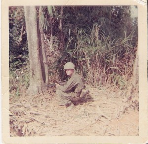 Robert McGeeney serving as a Marine Corp, potentially in Vietnam between 1966 and 1969.